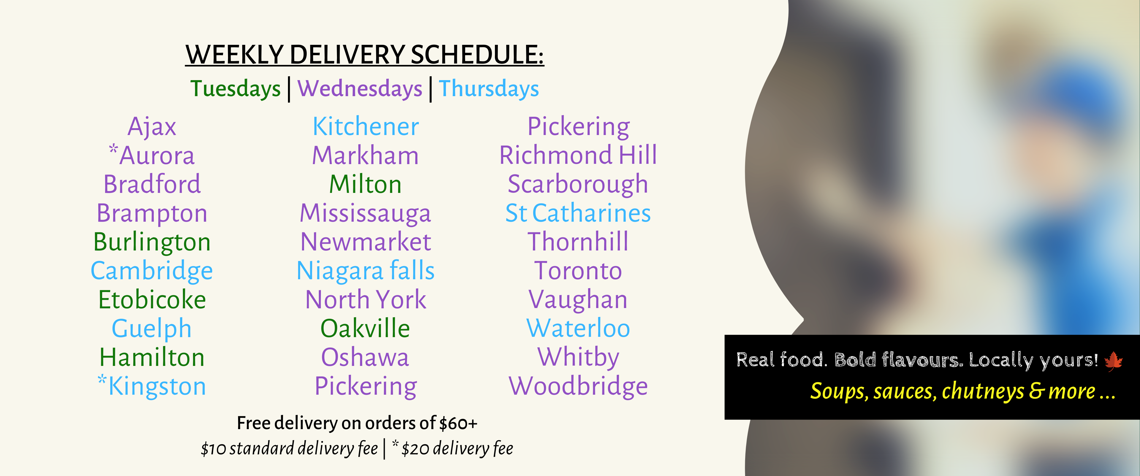 Weekly Delivery Schedule